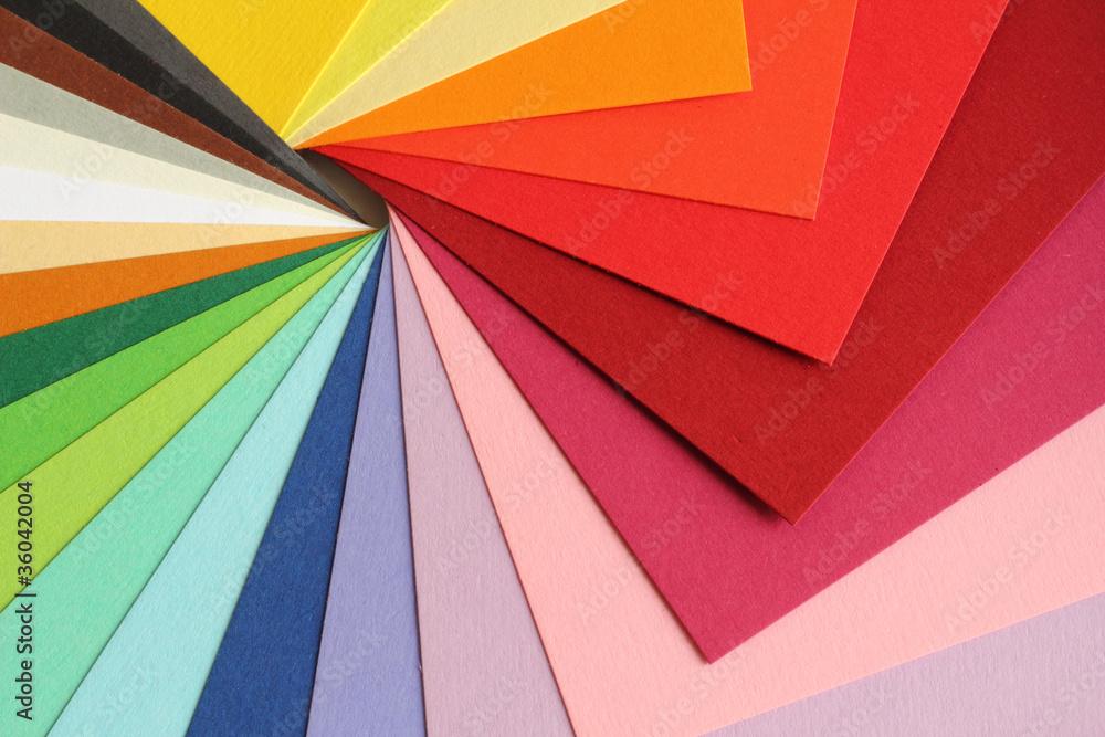 Fototapety, obrazy: Farbenlehre - bunte Pappe