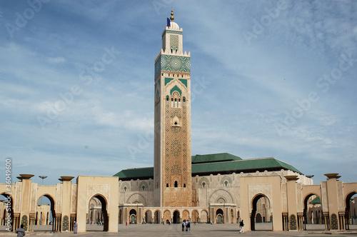 Foto op Canvas Marokko Moschea di Casablanca
