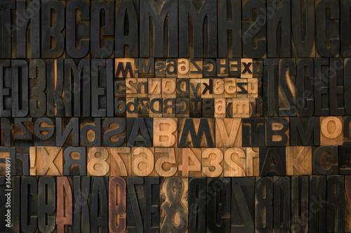 Fotografie, Obraz  caratteri di stampa 2