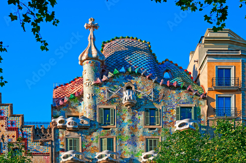 Casa Battlo, Barcelona - Spain Canvas Print