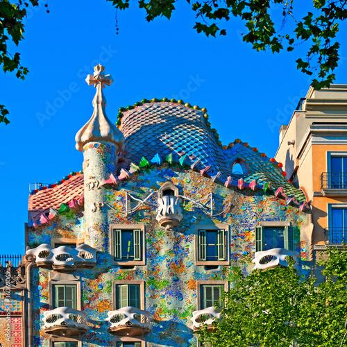 Foto op Canvas Barcelona Casa Battlo in Barcelona - Spain, designed by; Antoni Gaudi