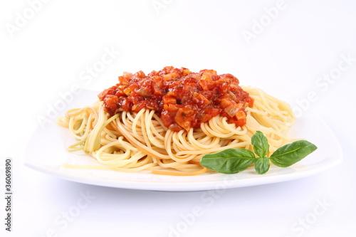 Fotografie, Obraz  Spaghetti bolognese on a plate
