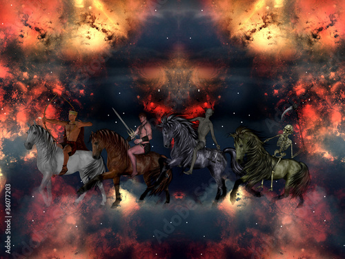 The Four Horsemen of the Apocalypse. Canvas Print
