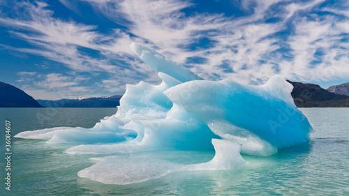 Poster Glaciers Blue Iceberg