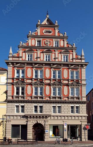 In de dag Brugge Hausfassade in Landshut