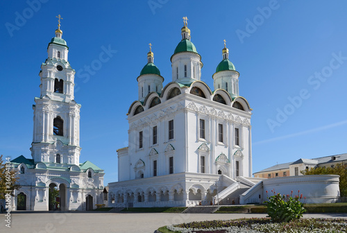 Photo Cathedral and Bell Tower. Kremlin in Astrakhan. Russia