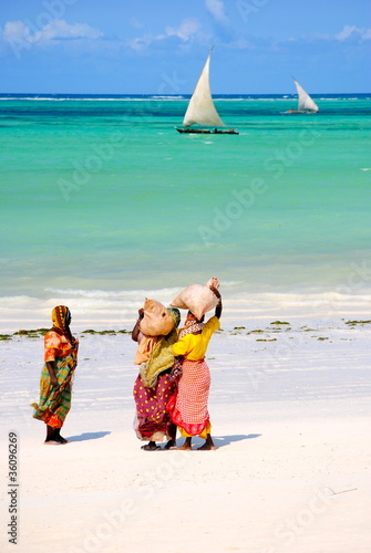 In de dag Zanzibar La spiaggia di Zanzibar