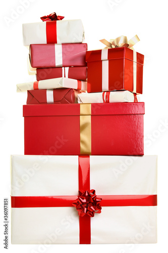 Fotografie, Obraz  Christmas gifts isolated