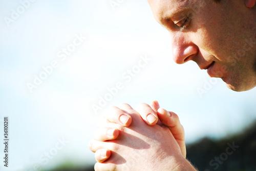 Fotografie, Obraz  Man praying