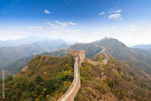 Poster Pekin the great wall at autumn