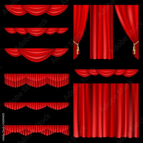 Fotografía  Red curtains