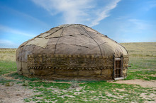 Traditional Asian Yurt Made Of Hide
