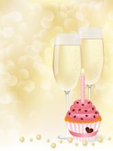 Champagne & Cupcake