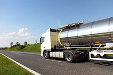 A Big Fuel Tanker Truck