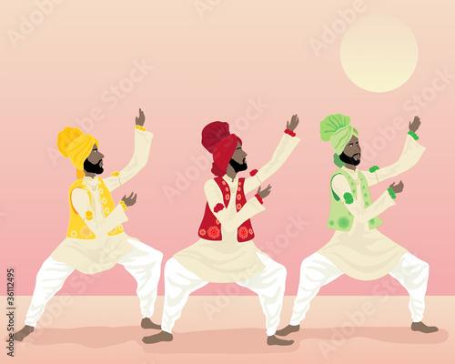 Fototapeta punjabi dance