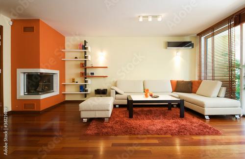 Fotografie, Tablou  Modern living room apartment