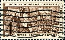 Lincoln- Douglas Debates. 1858 -1958. US Postage.