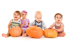 Babies With  Pumpkins