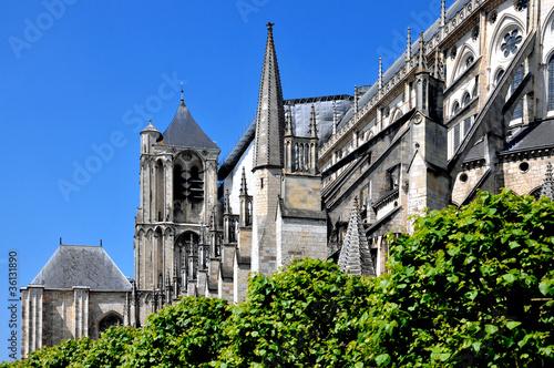 vue sur la Cathédrale Saint-Étienne - Bourges Canvas Print