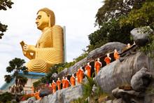 Golden Seated Buddha In Dambul...