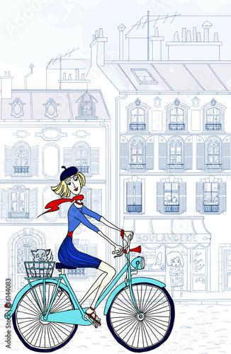 Recess Fitting Illustration Paris woman in paris