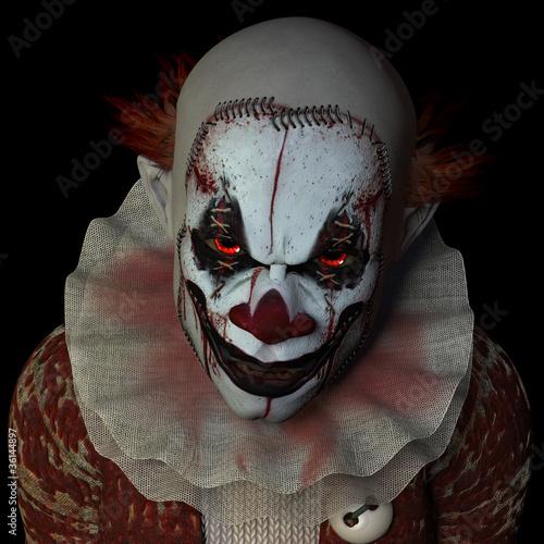 Fotografie, Obraz  Scary Clown 1