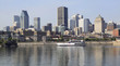 Montreal skyline and Saint Lawrence River, Quebec, Canada