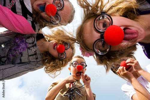 Платно Group of Children having fun
