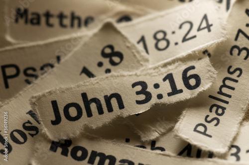 Fotografie, Obraz  John 3:16