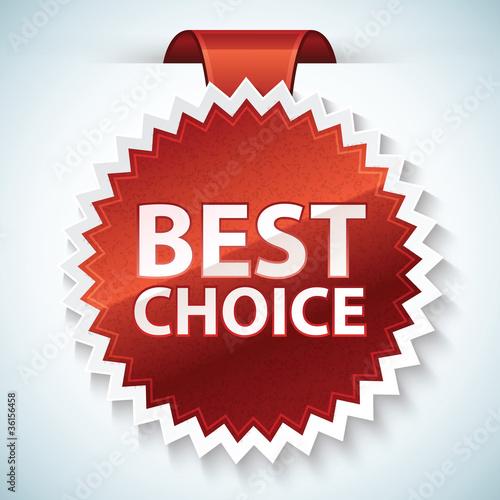 Fotografía  Vector best choice red label