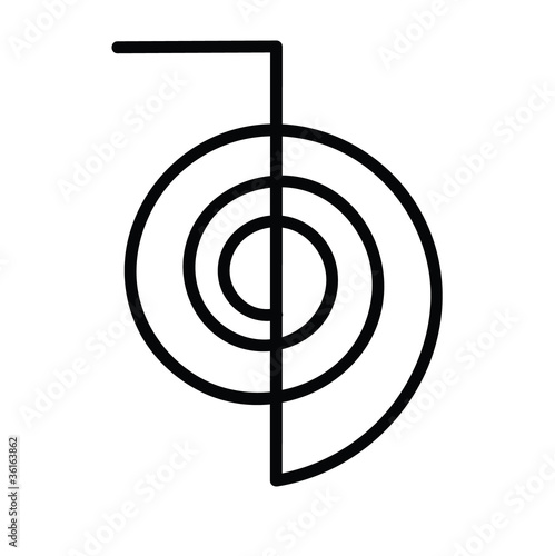 Photo  vector of reiki symbol chokurei cho ku rei