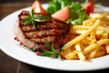 Grilled Beefsteak With French ...