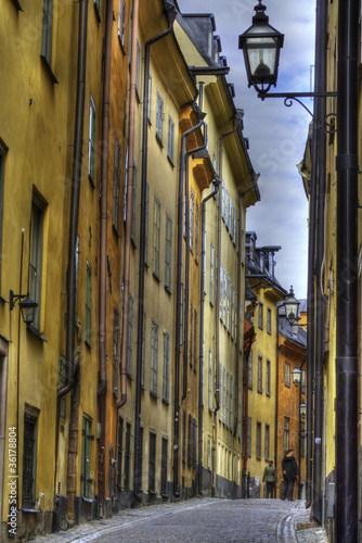 Gamla Stan,The Old Town in Stockholm, Sweden Canvas