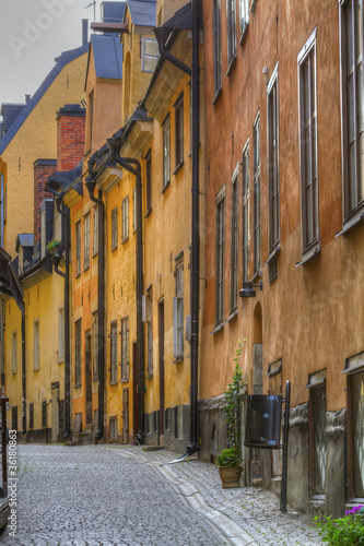 Photo  Gamla Stan,The Old Town in Stockholm, Sweden