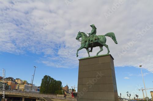 Foto  Statue of Charles XIV John at Slussplan, Stockholm, Sweden