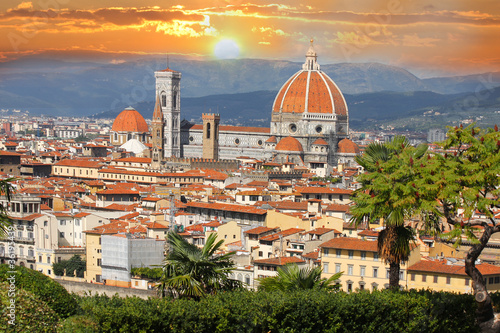 Spoed Foto op Canvas Florence Florence in spring time, Tuscany, Italy