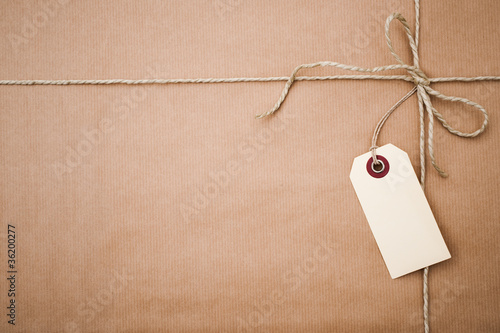 brown paper parcel with copy space Wallpaper Mural
