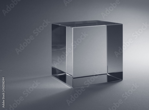 solid glass cube Canvas Print