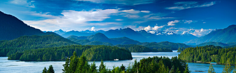 Panoramic view of Tofino, V...