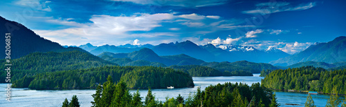 Printed kitchen splashbacks Canada Panoramic view of Tofino, Vancouver Island, Canada