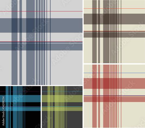 check fabric pattern Canvas Print