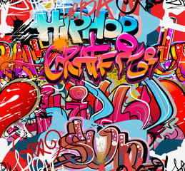 Fototapeta Hip hop graffiti urban art background