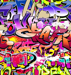Fototapeta Graffiti seamless background. Hip-hop urban art