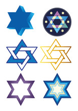 Illustration With Stars Of David
