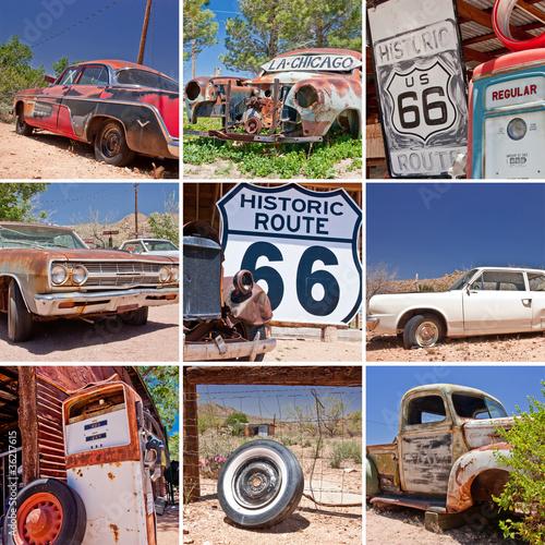 Keuken foto achterwand Route 66 Route 66 collage