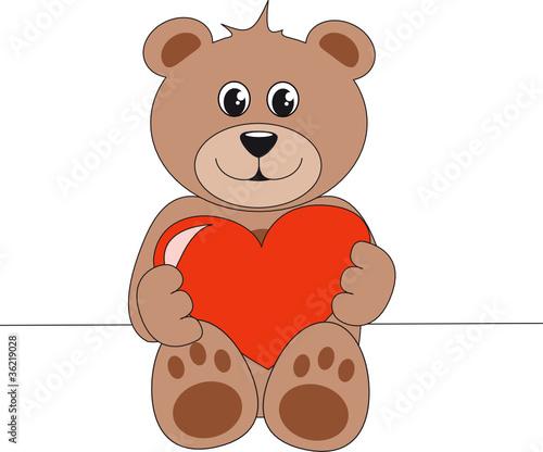 teddybär mit herz zum ausmalen  malvorlagen
