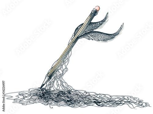 Foto op Aluminium Draw magic pencil (series C)