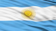 Flag Of Argentina Close Up Background