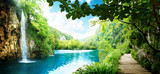 wodospad w głębokim lesie - 36234695