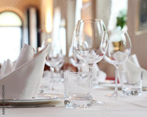 Fotografie, Obraz  Gedeckter Tisch